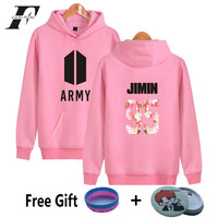 LUCKYFRIDAYF 2017 New BTS ARMY Harajuku 3 Color Kpop Fans Club Cotton Cap Women Hooded Autumn