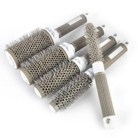 5pcs Round Rolling Hair Brush Set Barrel Curling Brush Comb Hair Styling Tools Professional Barber Salon