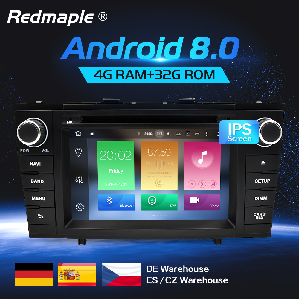 Octa Core Android 8.0 Car Radio DVD GPS Navigation Multimedia Player For Toyota Avensis T27 2009-2015 Auto Audio Stereo Headunit