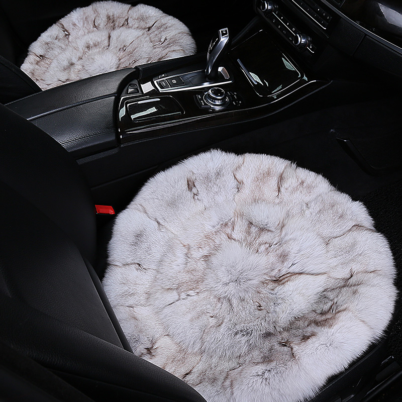 1pc fox fur car interior accessories cushion winter new plush car pad seat cover for Penault Clio symbol Duster Fluence Kangoo