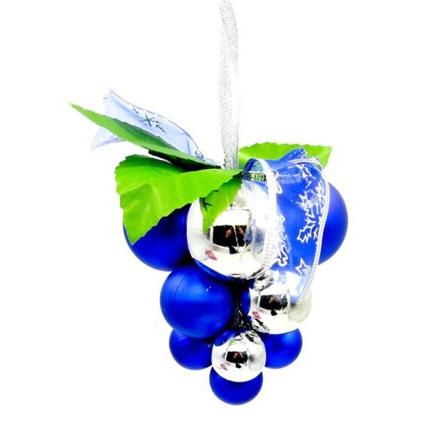 Christmas Decorations Christmas Grape Balls Baubles PE 12*11cm Hanging Ornament Four Designs Wedding Decorations 1PC