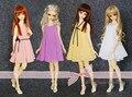 Четыре цвета Шифона Платье для BJD Куклы 1/4 MSD, 1/3 SD10/13, SD16 LUTS. AS. DZ. Super Dollfie Куклы CWB13