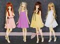 Four colors Chiffon Dress for BJD Doll 1/4 MSD,1/3 SD10/13,SD16 LUTS.AS.DZ.Super Dollfie Doll Clothes CWB13