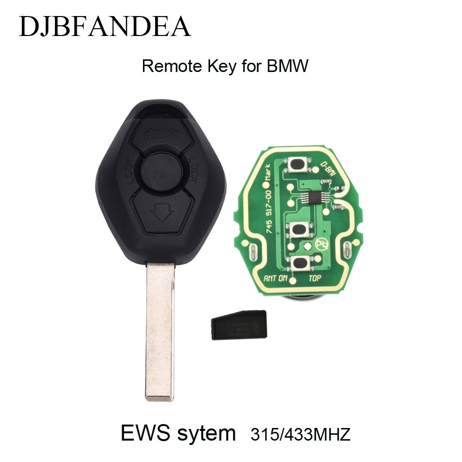 QCONTROL Car Remote Key DIY for BMW CAS X3 X5 Z3 Z4 Z8 3//5//6//7 Series Keyless Entry Transmitter