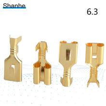50 sztuk 6.3mm 6.3 złącze zaciskowe żeńskie złącze widełkowe