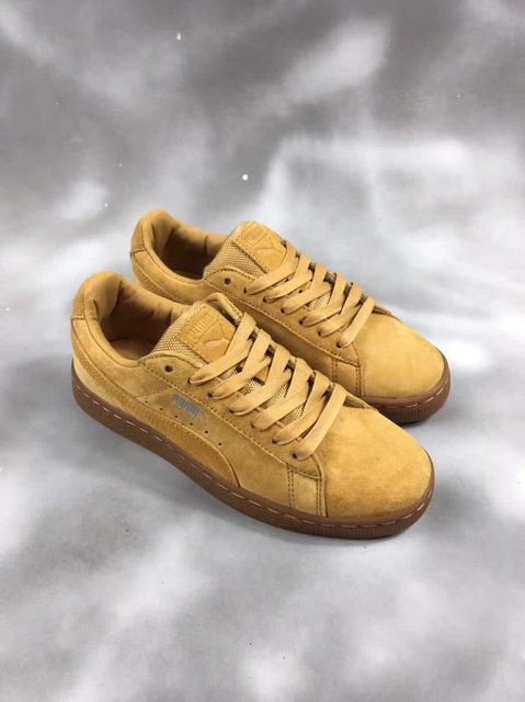 price reduced get new fashion US $55.05 17% OFF 2018 PUMA FENTY Suede Cleated Creeper Women's First  Generation Rihanna Classic Basket Suede Tone Simple Badminton Shoes 36  44-in ...
