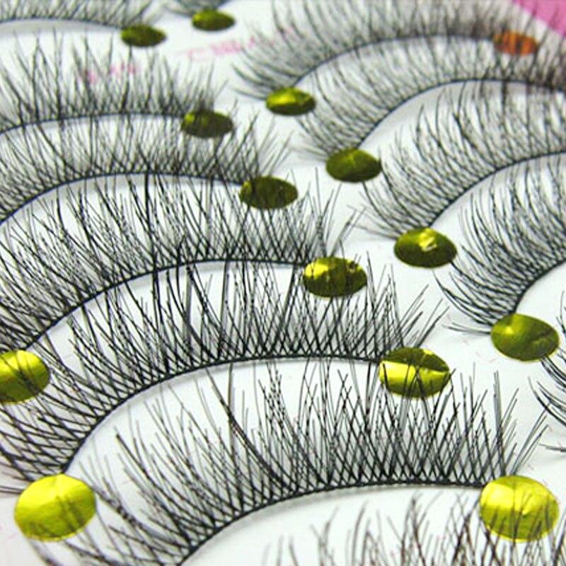 10Pair Natural False Eyelashes Long Thick Fake Eye Lashes Extension Big Eyes Makeup Tools Individual Eyelashes Eye Lashes Makeup