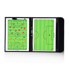 Foldable Magnetic Football Soccer Coaching Board Soccer Trainer Training Match Tactical Plate Book With Soccer Marker Pens soccer coaching board strategy tactics clipboard football game match training plan accessories