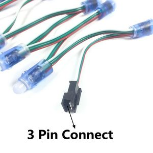 Image 2 - 1000pcs 12mm WS2811 2811 IC Full Color Pixel LED Module Light DC 5V Waterproof IP68 RGB color Digital LED Pixel Light Wholesale
