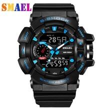 Relojes de Pulsera para hombre de moda Al Aire Libre A Prueba de agua Digital de reloj S Choque Hombres Relojes Deportivos 50 M de Natación LED Digital Reloj Militar hombres