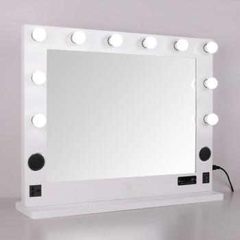 Espejo De Maquillaje Con Luz Led De Tocador De Estilo De Hollywood Con 10 Bombillas Ultra Brillantes