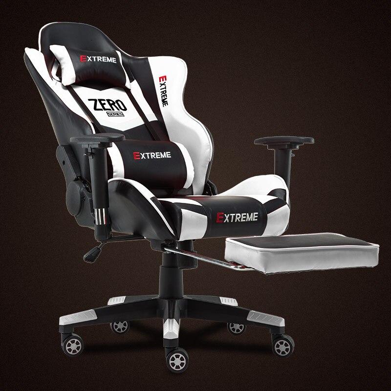 Новое прибытие гонки Синтетическая кожа игровые кресла Интернет кафе ВЦБ компьютерное кресло удобно лежать домашние кресла Бесплатная доставка