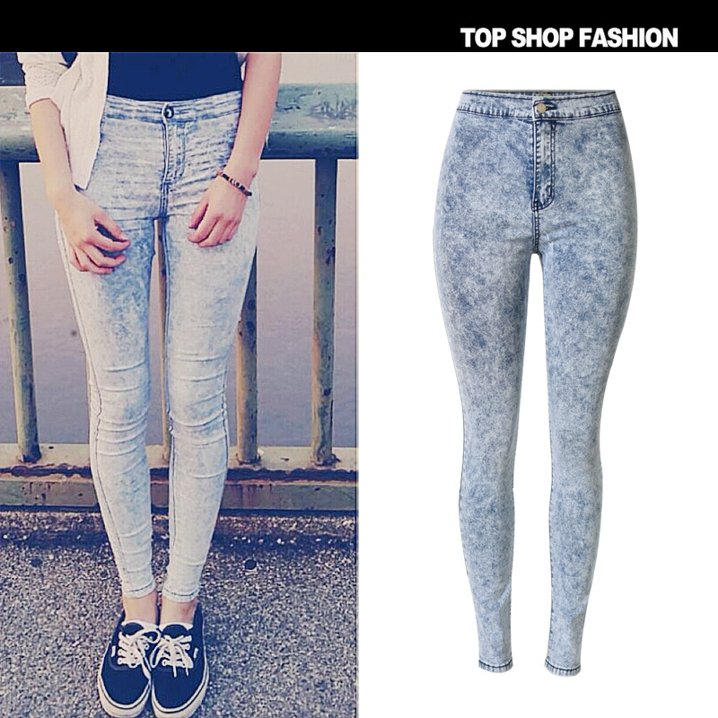 Mode haute femme jeans jeans pour denim les 2017 femmes blanc taille dawdpq