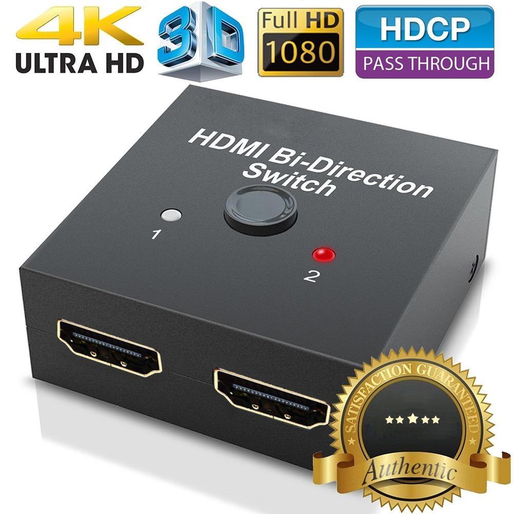 Nuevo HDMI 2,0 bi-dirección conmutador inteligente 2x1 1x2 Ultra HD 4 K bidireccional HDMI 2,0 Hub interruptor HDCP 3D 1080 p 4 K resolución HDCP