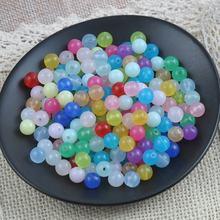 Новинка 30 шт 15 мм круглые прозрачные акриловые бусины жемчуг