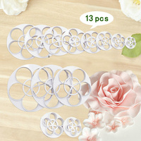 Rose Petal Cutter Sets Rose Plastic Cutter Rose Leaf Fondant Cutter Hot Selling Cake Design Tools