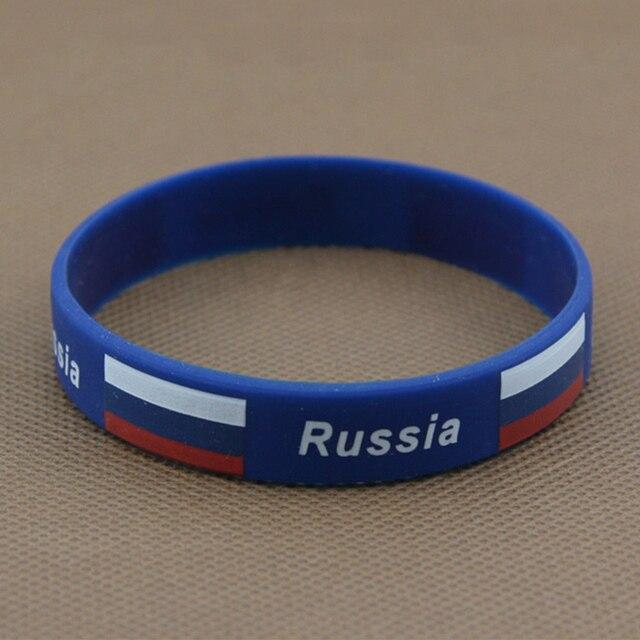 adb43be7724d Deporte silicona pulseras bandera Color pulsera España Alemania Rusia fútbol  Fans simboliza el uso elástico baloncesto