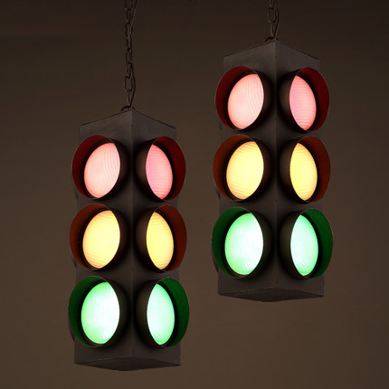 Creative Traffic Lights Style Suspension Luminaire Loft Vintage Pendant Light  Bar Personality Industrial Style Pendant Lighting In Pendant Lights From ...