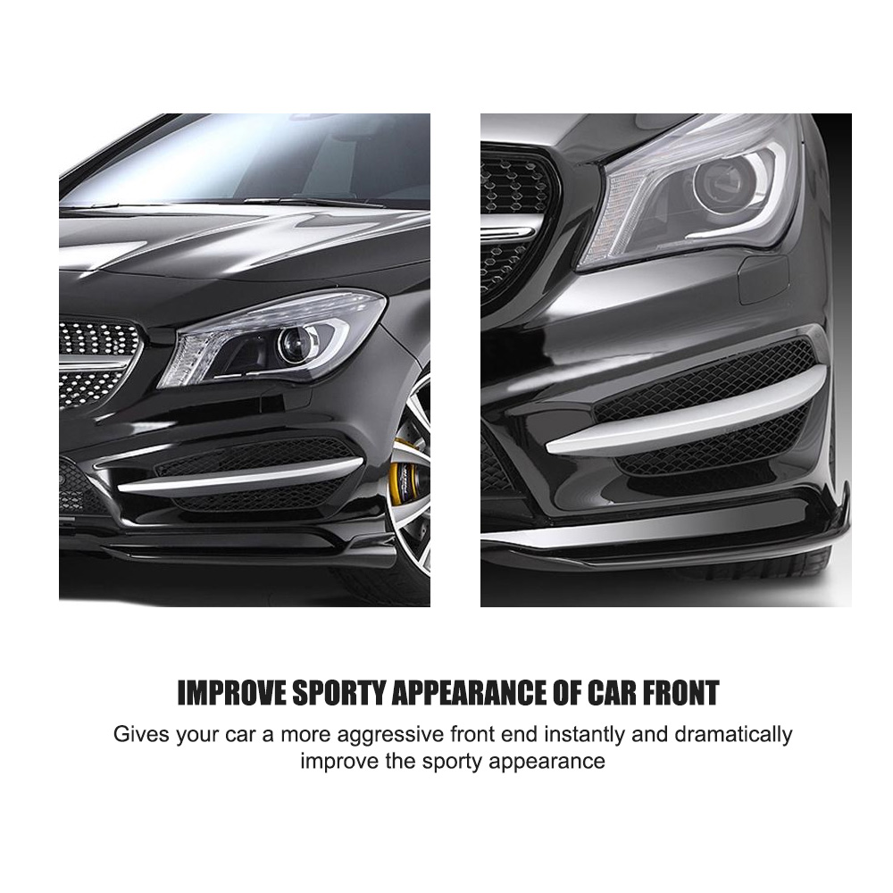 Universal ABS Universal Rear Bumper 4 Fins Diffuser Fin Fit for Dashboard Viable
