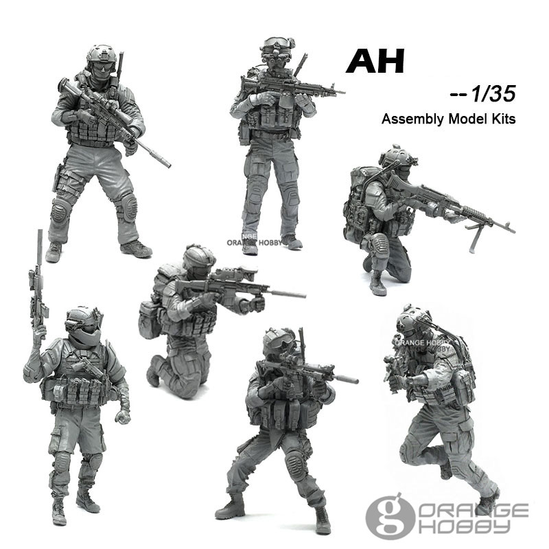 OHS YuFanModel 1/35 AH-01-07 AH Series Modern U.S Army Special Force Assembly Military Resin Miniatures Model Building Kits oh все цены