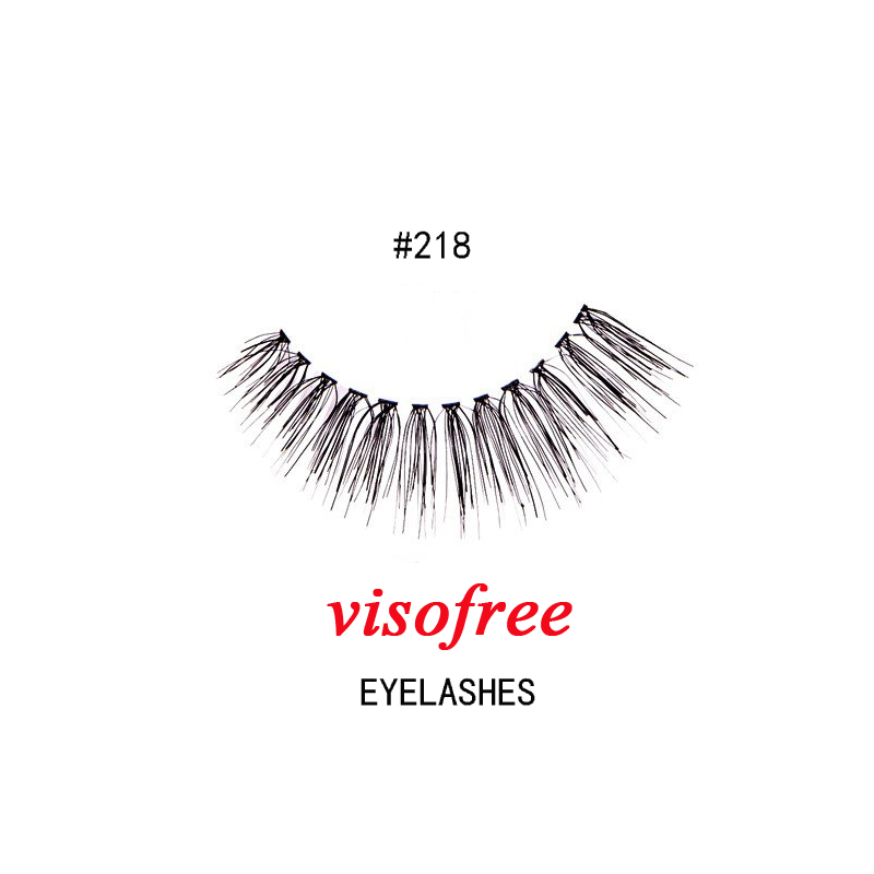 1Pair Visofree Eyelashes Fashion Soft False Fake Human Hair Eyelashes Adhesives Glamour Crisscross Eye Lashes Makeup Beauty #218