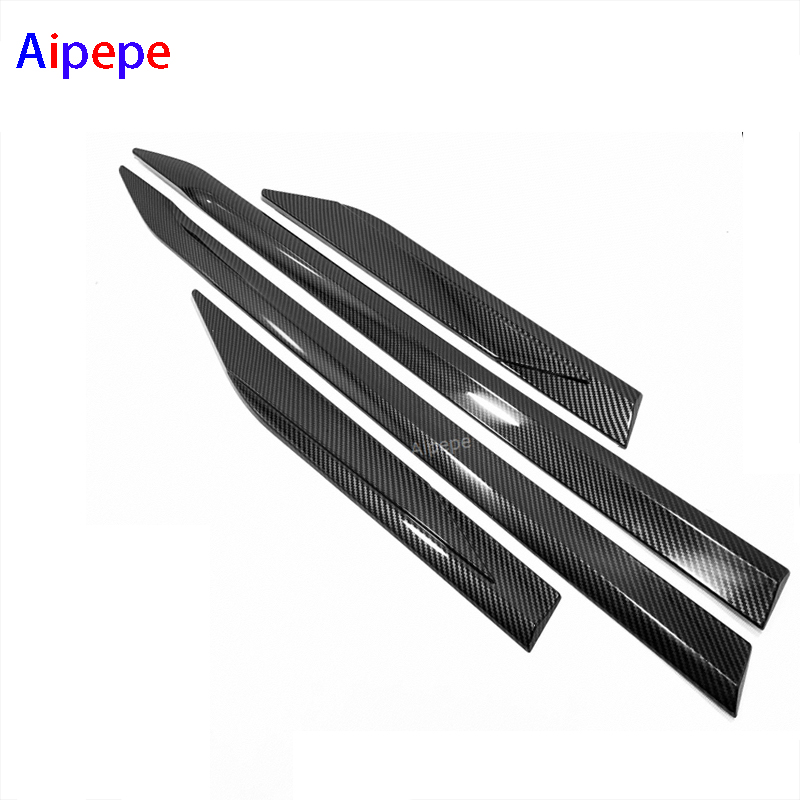 ABS Chrome Carbon Fiber Door Body Molding Fit For Toyota RAV4 2019 2020 Car Accessories Side Strips Trim CoverABS Chrome Carbon Fiber Door Body Molding Fit For Toyota RAV4 2019 2020 Car Accessories Side Strips Trim Cover