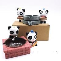 Panda ashtray resin ashtray table top decoration Sichuan Chengdu Panda Base Home Furnishing Ornament
