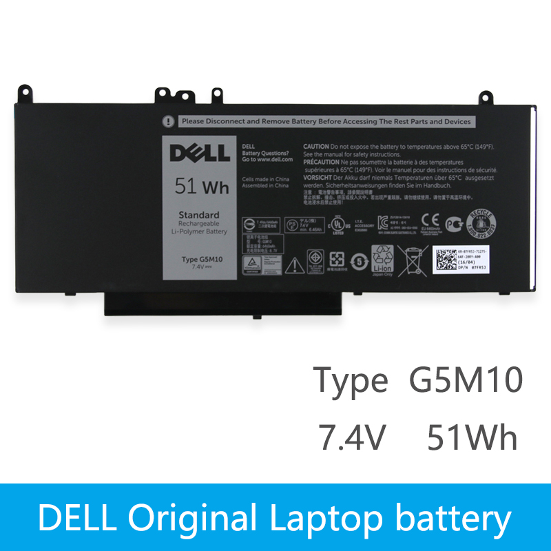 <font><b>Dell</b></font> Original New Replacement Laptop Battery For <font><b>DELL</b></font> <font><b>Latitude</b></font> E5450 <font><b>E5470</b></font> E5550 E5570 8V5GX R9XM9 WYJC2 1KY05 7.4V 51wh G5M10 image