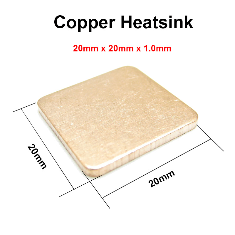 10pcs/lot 20x20x1.0mm DIY Copper Shim Heatsink thermal Pad Cooling for XBOX360 PS2 3 4 BGA CPU VGA Chip RAM IC Cooler Heat sink фотопанно флизелиновое divino 143 тропический пейзаж 143 1 022