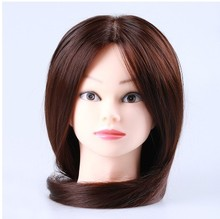 23inch Hairdressing Dolls Head Synthetic Fiber Female Hair Style Mannequin High Quality Brown Trainining