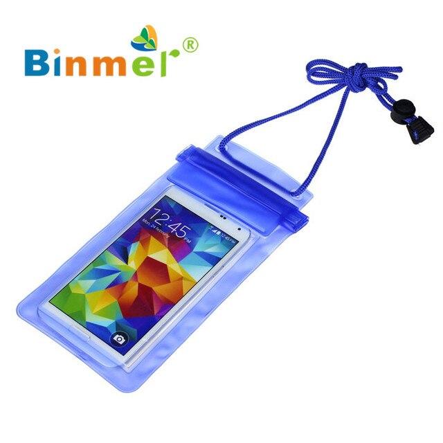Binmer 1 PC Du Lịch Bơi Túi Không Thấm Nước Trường Hợp Bìa cho 5.5 inch Điện Thoại Di Động 0410 thả vận chuyển