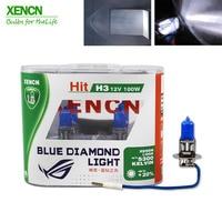 XENCN H3 12 В 100 Вт Pk22s 5300 К голубой бриллиант свет автомобилей лампочки Германия галогенная лампа авто для vw golf fabia