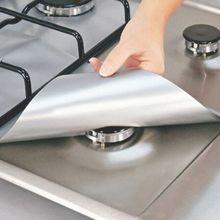 4 шт. лайнер инструменты для уборки на кухне коврик многоразовый стекловолокно фольга газовая горелка противообрастающая для домашней кухни