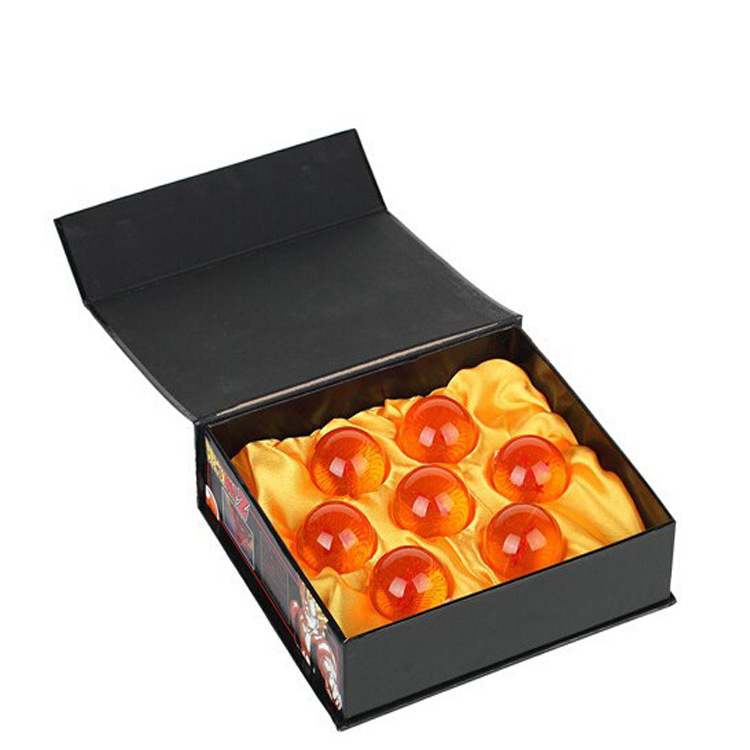 7.6cm Dragon ball z crystal Dragon balls set with box 2016 New Dragon ball z 4 star crystal ball Anime collect super saiyan 3 brand new 3 5cm dragon ball z new in box 7 stars crystal balls set of 7 pcs complete set for children new year christmas gift
