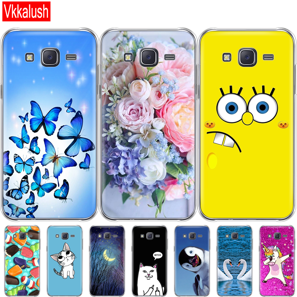 Soft TPU Case For <font><b>Samsung</b></font> Galaxy J7 2015 Case Silicon Cover For <font><b>Samsung</b></font> Galaxy J7 2015 <font><b>SM</b></font>-J700F 5.5 inch J700 J7008 J700F <font><b>J700H</b></font> image