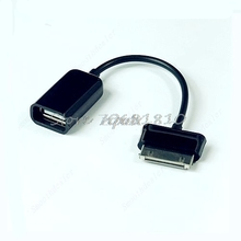 Black USB Cable Adapter OTG For Samsung Galaxy Tab Tablet 10.1 P7510 New Z09 Drop ship