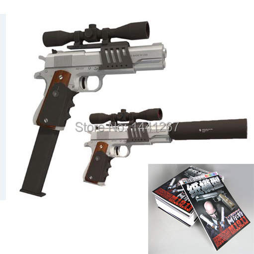 US $11 5 |3D Paper Model Pistol/Gun M1911 Paper cut Toy Hardcover Magazines  Edition 1:1 DIY Puzzle Toys Handmade Paper Firearms-in Model Building Kits