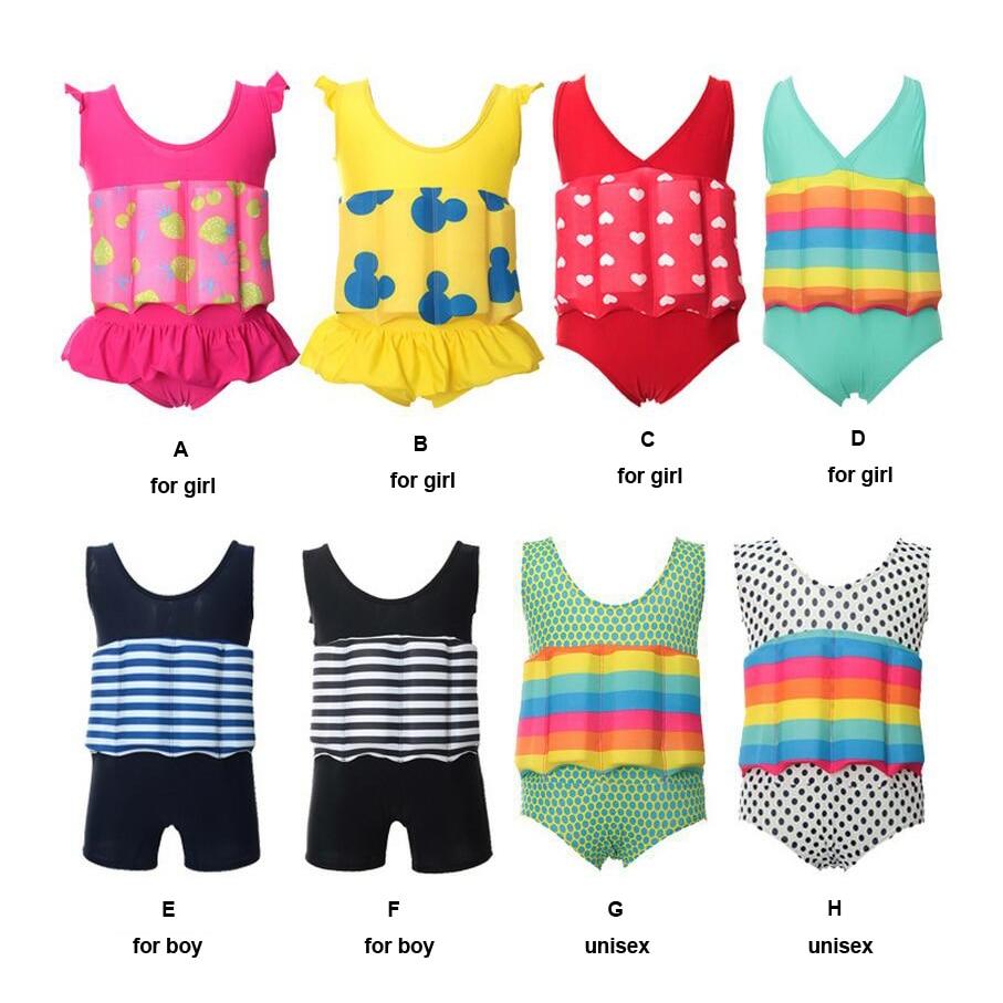Swimwear das Crianças Menina do Menino do Bebê Colete para Seguro 2017 Nova Criança Calções Natação Troncos Crianças à Deriva Flutuabilidade Maiô Nadar