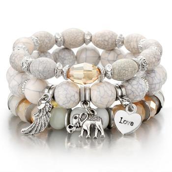 Women's Boho Style Stone Charm Bracelet Bracelets Jewelry New Arrivals Women Jewelry Metal Color: sl1028
