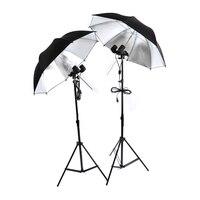 جديد معدات التصوير الإضاءة كيت 85 سنتيمتر و lambency عاكس مظلة بيضاء لمبة مصباح حامل e27 المقبس 2 mlight موقف CD50