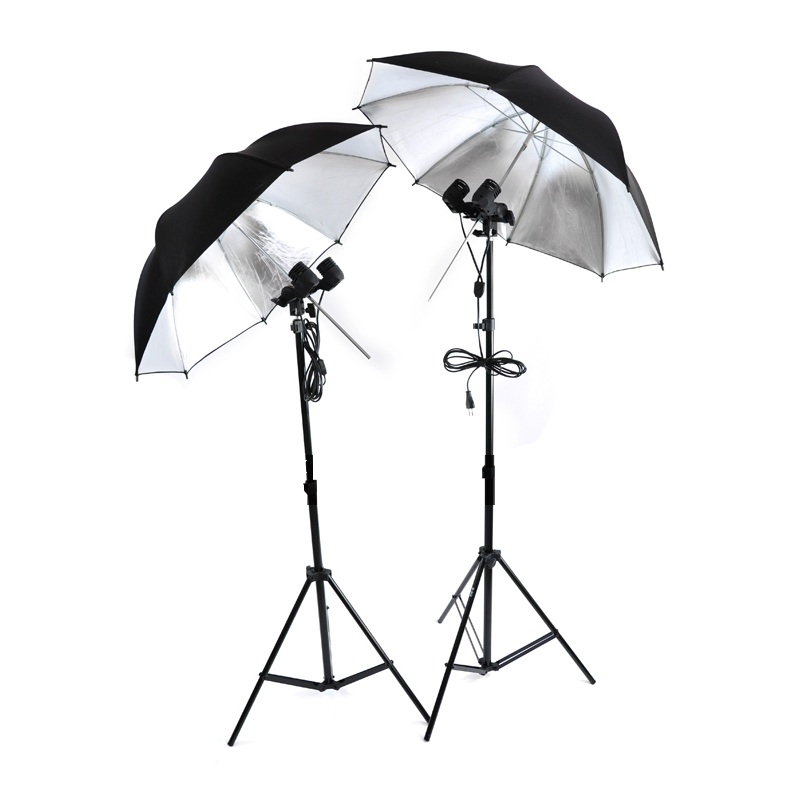 купить NEW PHOTOGRAPHIC EQUIPMENT lighting kit 85cm Reflective lambency white umbrella Lamp Bulb Holder E27 Socket 2mlight stand CD50 недорого
