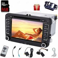 Backup camera+car stereo 2 din car radio CD DVD player headunit in dash for VW automagnitol autoradio car audio wifi Bluetooth