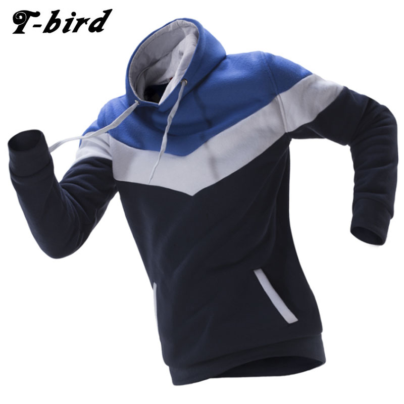Hoodies Men 2017 Brand Male Long Sleeve Hoodie Three-Color Stitching Sweatshirt Mens Moletom Masculino Hoodies Slim Tracksuit ER