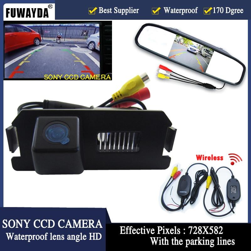 "FUWAYDA 4.3 ""TFT LCD автомобил огледало за обратно виждане Паркинг монитор + автомобил SONY камера за Hyundai Genesis I30 ROHENS COUPE Tiburon Kia Soul"