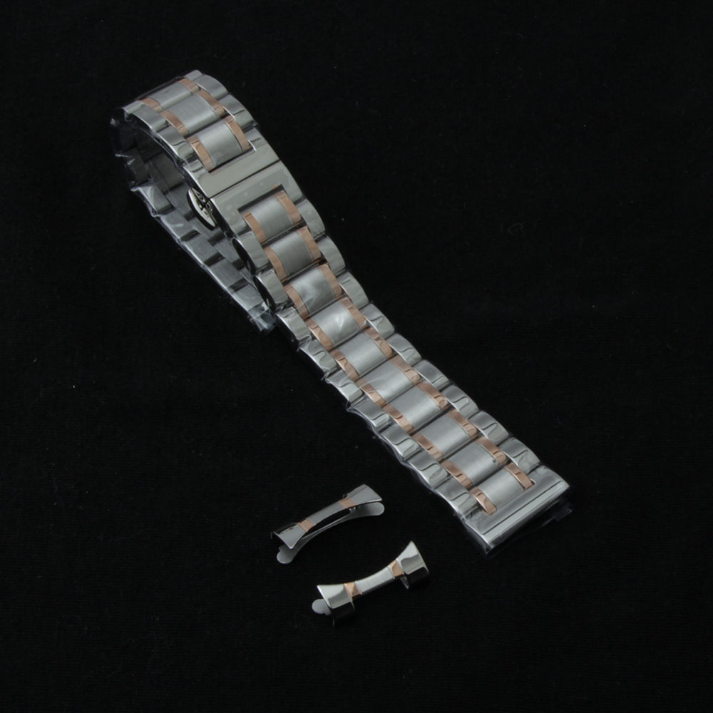 New high quality 14mm 16mm 18mm 20mm 22mm 24mm Stainless Steel Watch band Strap Bracelet Watchbands Wristband Butterfly buckle 16mm 18mm 20mm ceramic and stainless steel watchband white or black watch band watch strap butterfly buckle wristband