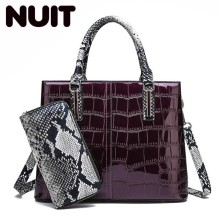 Women Patent Leather Handbag Luxury Crocodile Tote Bag Shoulder Bags Handbags Women Famous Brands Designer Sac A Main Femme luxury women genuine leather messenger bags sheepskin handbags lady famous brands designer handbag shoulder back bag sac ly157