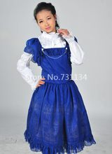 Vestido azul flor e bela
