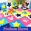 Promoción 10 unids/lote multicolor alfombra de juego del rompecabezas EVA niño estera del piso del bebé de espuma eva patchwork juego esteras TYD001