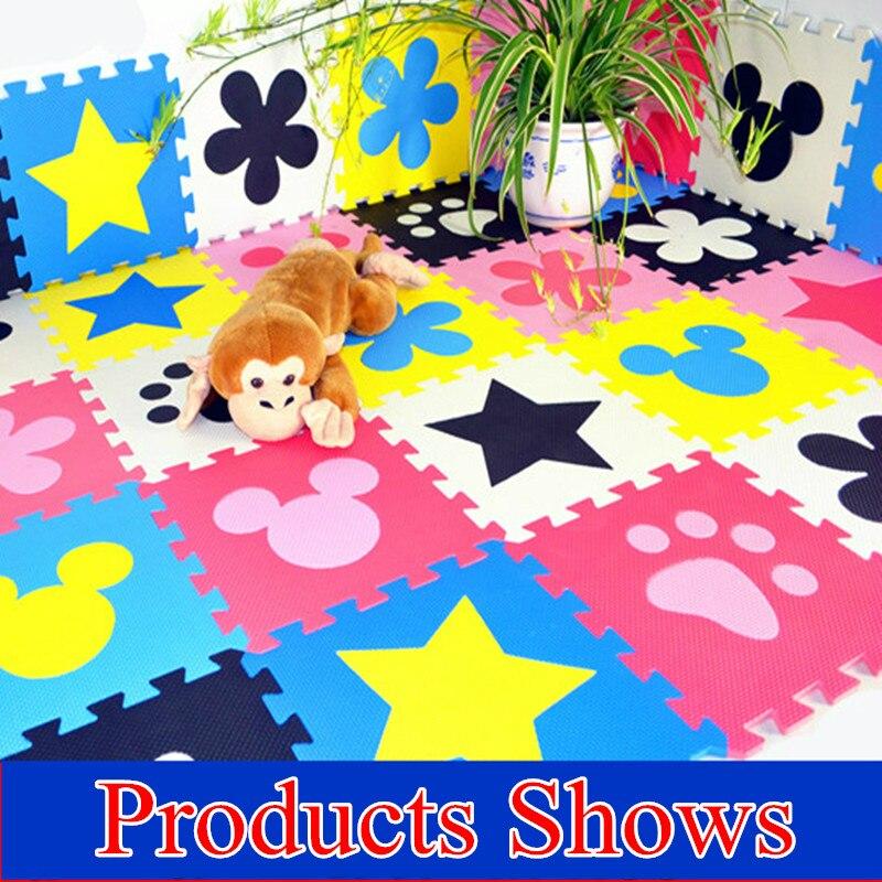 Promotion 10 pcs/lot tapis de jeu multicolore enfant EVA puzzle tapis de sol bébé eva mousse patchwork tapis de jeu TYD001