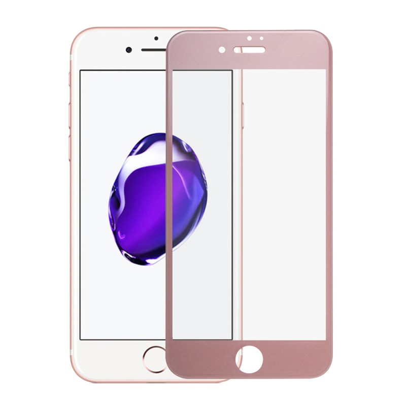for iPhone 7 Plus 5.5 inch <font><b>Tempered</b></font> <font><b>Glass</b></font> 3D <font><b>Curved</b></font> <font><b>Silk</b></font> <font><b>Print</b></font> <font><b>Tempered</b></font> <font><b>Glass</b></font> Film <font><b>Full</b></font> <font><b>Screen</b></font> Cover for iPhone 7 Plus-Rose Gold
